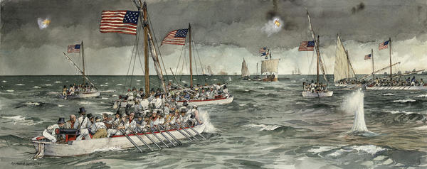 the Battle of Cedar Point, War of 1812 (MD Historical Society)