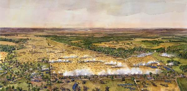 Battle of Malvern Hill-art for wayside (NPS)
