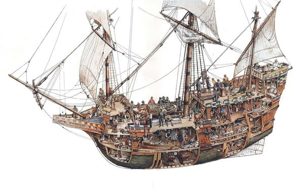 Mayflower (Cutaway), Nat. Geographic Society