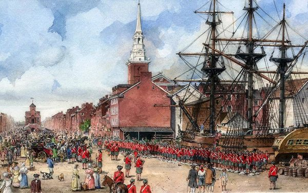 The 42nd Highlanders under Gen. Forbes disembark in Philadelphia