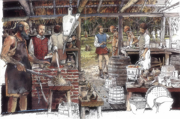 Thomas Harriot's lab, Roanoke, 1586 (NGS)