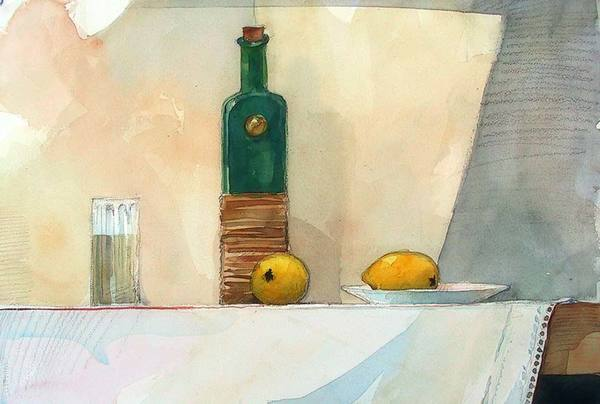 Bottle and Lemons