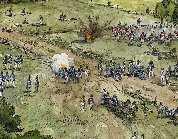 Battle of Bladensburg (detail)