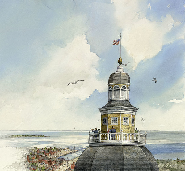 Lookouts-MD State House used as a lookout post, War of 1812